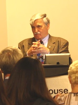 General Dallaire listens to questions from the audience